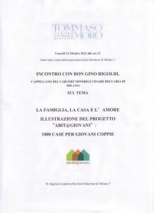 Iniziativa  Incontro con Don Rigoldi 12.10.2012