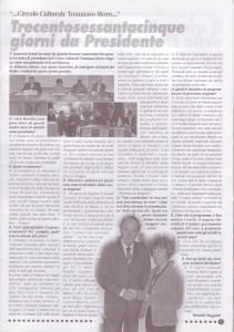 articolo 365 giorni da Presidente di Rosetta Cannarozzo ottobre 2009