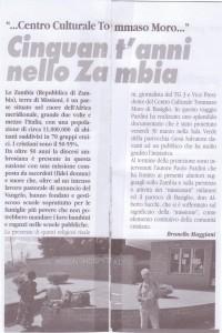 articolo 50 anni in Zambia maggio 2012