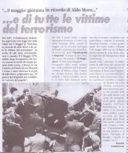articolo In ricordo di Aldo Moro maggio 2012