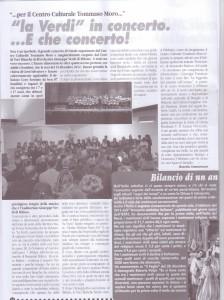 articolo La Verdi in concerto febbraio 2013