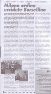 articolo Milano ordina uccidete Borsellino maggio 2013