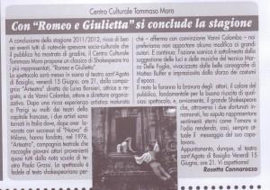 articolo Romeo e Giulietta giugno 2012