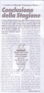 articolo Tutta casa , letto e Chiesa Giugno 2010