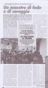 articolo Un maestro di fede e di coraggio  novembre 2011