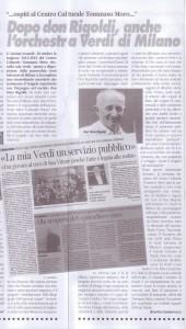 articolo dopo Don Rigoldi anche l'orchestra Verdi di Milano novembre 2012