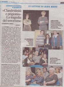 articolo  lezioni storia a Basiglio 13.05.2012