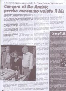 articolo omaggio a De Andrè giugno 2011