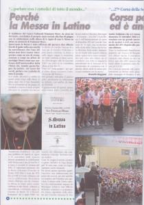articolo perché la Messa in latino ottobre 2008