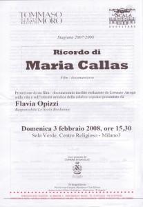 inizativa Incontro con Maria Callas 3.02.2008