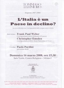 iniziativa Italia è un paese in declino 16.03.2008