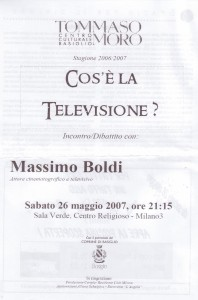 iniziativa cos'è la televisione 26.05.2007
